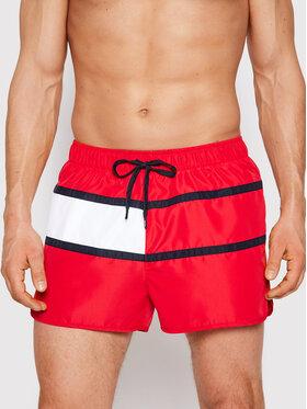 Tommy Hilfiger Tommy Hilfiger Pantaloni scurți pentru înot Runner UM0UM02056 Roșu Regular Fit