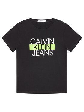 Calvin Klein Jeans Calvin Klein Jeans T-Shirt Institutional Block IB0IB00521 Μαύρο Regular Fit