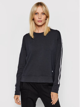 Under Armour Under Armour Pulóver Ua Rival Terry Taped Crew 1360905 Fekete Loose Fit