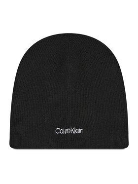 Calvin Klein Calvin Klein Kepurė Basic Wool No Fold Beanie K50K507444 Juoda