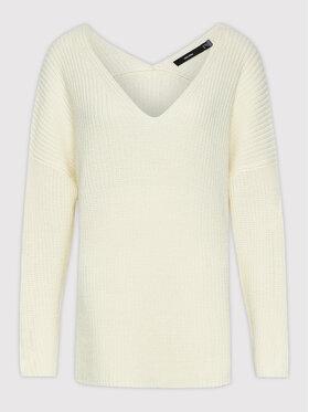 Vero Moda Curve Vero Moda Curve Sweter Lea 10252754 Biały Regular Fit