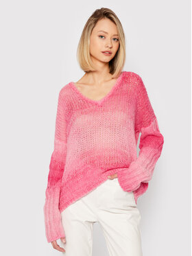 Guess Guess Sweter Ariane W1BR14 Z2W30 Różowy Relaxed Fit
