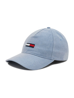 Tommy Jeans Tommy Jeans Šilterica Flag Washed Denim Cap AW0AW10189 Plava
