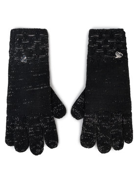 Guess Guess Дамски ръкавици Not Coordinated Gloves AW8199 WOL02 Черен