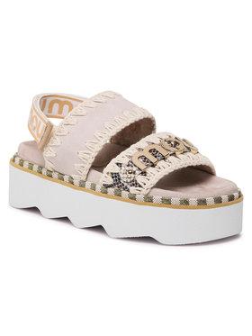 Mou Mou Sandały New Bio Sandal Belt Logo 01B SW271001D Beżowy