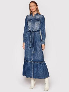 Fracomina Fracomina Jeans haljina FP21WD4001D40002 Plava Regular Fit
