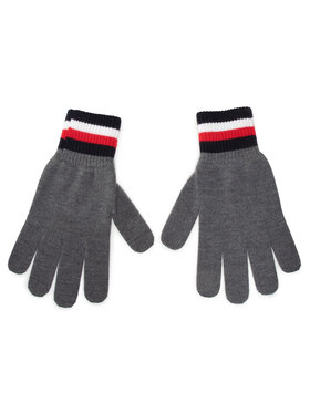 Tommy Hilfiger Tommy Hilfiger Gants homme Corporate Gloves AM0AM06586 Gris