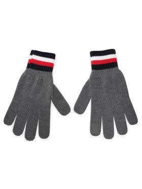 Tommy Hilfiger Tommy Hilfiger Pánské rukavice Corporate Gloves AM0AM06586 Šedá