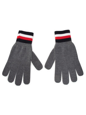 Tommy Hilfiger Tommy Hilfiger Pánske rukavice Corporate Gloves AM0AM06586 Sivá