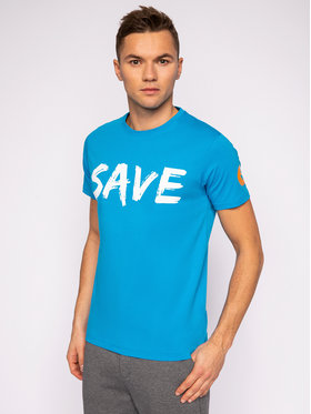Save The Duck Save The Duck T-shirt DT401M JESYX Bleu Regular Fit