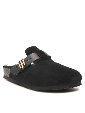 Tommy Hilfiger Tommy Hilfiger Pantofole Th Warmlined Close Toe Mule FW0FW05960 Nero