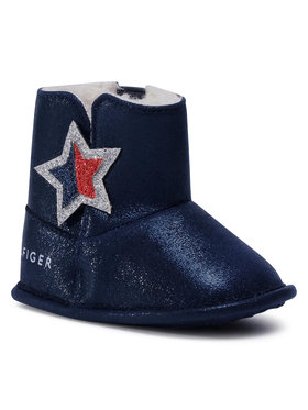 Tommy Hilfiger Tommy Hilfiger Buty Bootie Blue T0A5-30773-1009 Granatowy