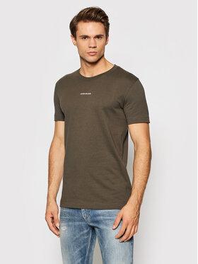 Calvin Klein Jeans Calvin Klein Jeans T-Shirt J30J318067 Brązowy Slim Fit