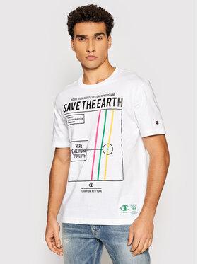 Champion Champion T-Shirt Eco Graphic Print 216963 Bílá Comfort Fit
