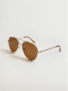 Mango Mango Okulary przeciwsłoneczne Leucade 17032017 Złoty