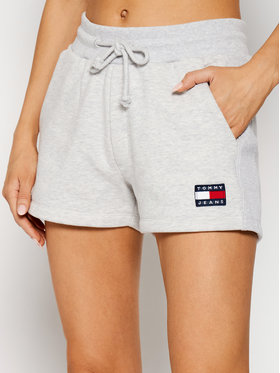 Tommy Jeans Tommy Jeans Pantaloni scurți sport Tjw Badge DW0DW09754 Gri Regular Fit