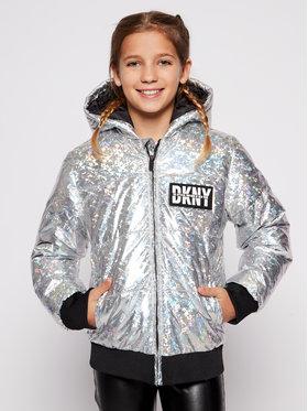 DKNY DKNY Giubbotto piumino D36626 S Argento Regular Fit