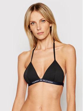 Tommy Hilfiger Tommy Hilfiger Bikini pezzo sopra Triangle Fixed UW0UW02708 Nero