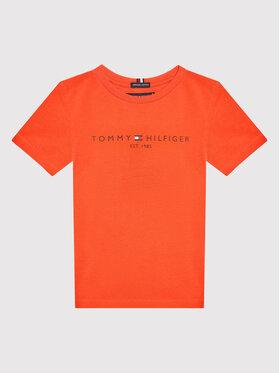 Tommy Hilfiger Tommy Hilfiger T-Shirt Essential Logo KB0KB05844 D Czerwony Regular Fit