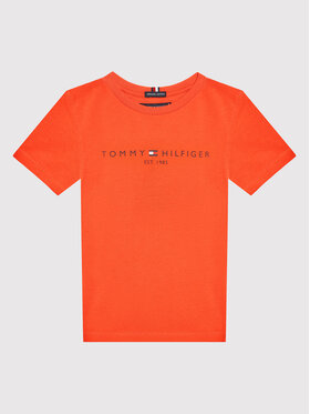 Tommy Hilfiger Tommy Hilfiger Tricou Essential Logo KB0KB05844 D Roșu Regular Fit