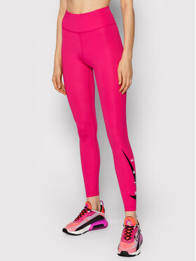 Nike Nike Legginsy Swoosh Run DA1145 Różowy Tight Fit