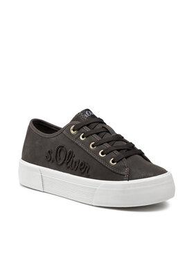 s.Oliver s.Oliver Πάνινα παπούτσια 5-23678-37 Πράσινο