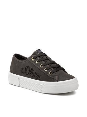 s.Oliver s.Oliver Sneakers aus Stoff 5-23678-37 Grün