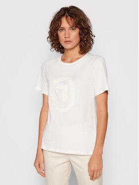 Trussardi Trussardi T-Shirt 56T00424 Biały Regular Fit