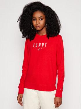 Tommy Jeans Tommy Jeans Mikina Tjw Essential Logo DW0DW09918 Červená Regular Fit