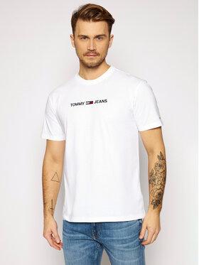 Tommy Jeans Tommy Jeans Tricou Tjm Straight Logo Tee DM0DM09382 Alb Regular Fit