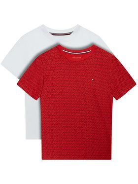 Tommy Hilfiger Tommy Hilfiger 2 marškinėlių komplektas UB0UB00389 Raudona Regular Fit
