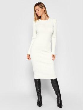 Guess Guess Robe en tricot Florinda W1BK33 Z2T70 Blanc Slim Fit