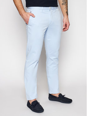 Tommy Hilfiger Tommy Hilfiger Spodnie materiałowe Denton MW0MW13286 Niebieski Straight Fit