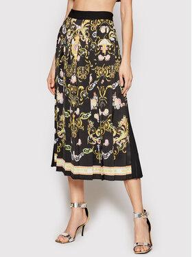 Versace Jeans Couture Versace Jeans Couture Плисирана пола A9HWA321 Черен Regular Fit