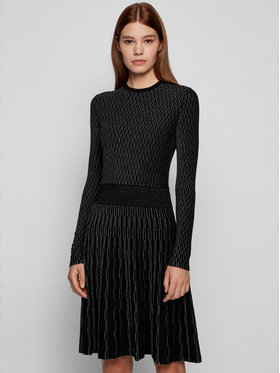 Boss Boss Плетена рокля C_Illorex 50452381 Черен Slim Fit