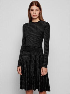 Boss Boss Úpletové šaty C_Illorex 50452381 Černá Slim Fit