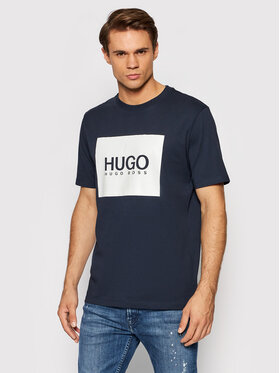 Hugo Hugo T-Shirt Dolive214 50456378 Granatowy Regular Fit