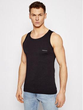 Versace Versace Tank top marškinėliai Canotta AUU04022 Juoda Slim Fit