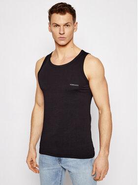 Versace Versace Топ Canotta AUU04022 Черен Slim Fit