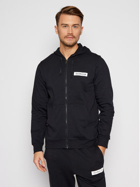 Calvin Klein Performance Calvin Klein Performance Bluză Fz Hoodie 00GMF0J488 Negru Regular Fit