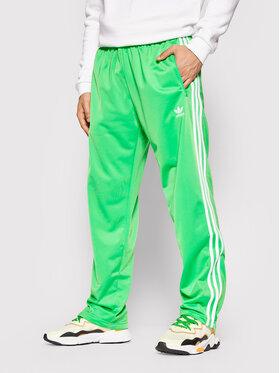 adidas adidas Spodnie dresowe adicolor Classics Firebird H09032 Zielony Regular Fit