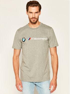Puma Puma T-Shirt BMW Motorsport Logo Tee 595369 Šedá Regular Fit