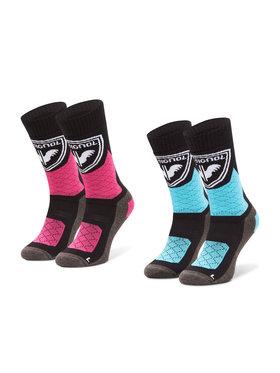 Rossignol Rossignol Súprava 2 párov vysokých detských ponožiek Jr Thermotech 2P RLJYX02 Farebná