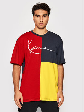 Karl Kani Karl Kani Tricou Signature Block 6030929 Bleumarin Relaxed Fit