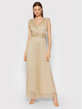Rinascimento Rinascimento Sukienka wieczorowa CFC0104690003 Złoty Slim Fit