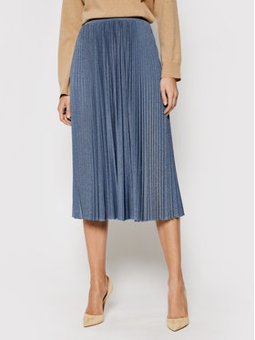 Marella Marella Plisovaná sukňa Lepanto 37710311 Modrá Regular Fit