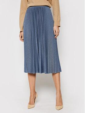 Marella Marella Plisovaná sukně Lepanto 37710311 Modrá Regular Fit