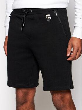 KARL LAGERFELD KARL LAGERFELD Pantaloni scurți sport 705026 511900 Negru Regular Fit