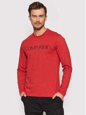 Calvin Klein Calvin Klein Longsleeve Logo K10K104690 Czerwony Regular Fit