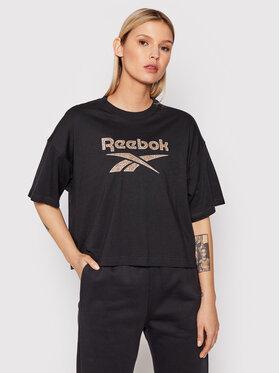 Reebok Reebok Тишърт Classics Graphic H41353 Черен Oversize